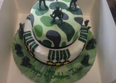 Army Theme Cake