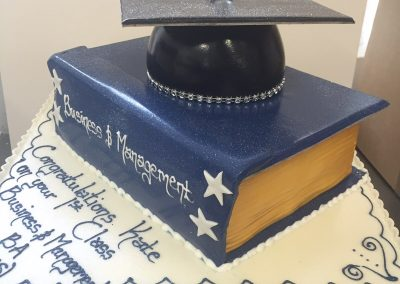 Graduation Cap and Book