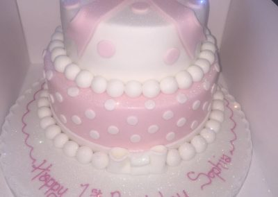2 Tier Pink Bow