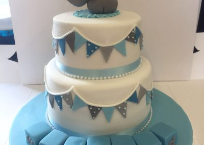 Two Tier Elephant and Blocks Cake