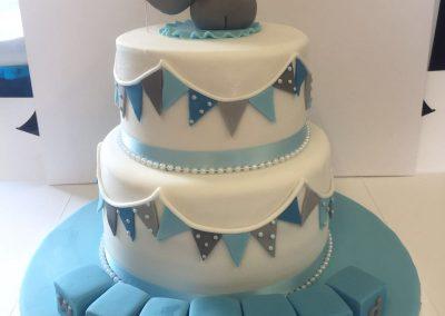 2 Tier Elephant Cake
