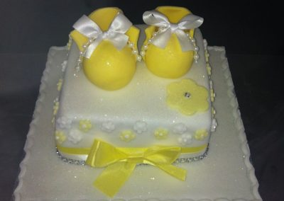 Yellow Shoe Cake