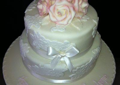 2 Tier Flower Cake