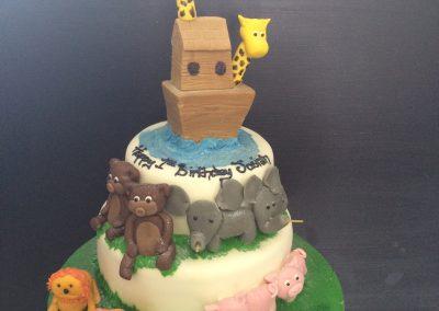 Noahs Ark Zoo Cake