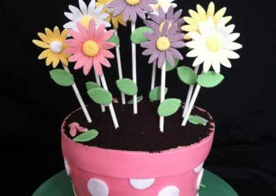 Planted Flower Pot Cake