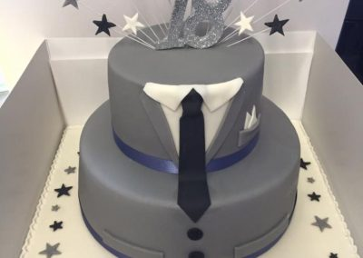 Two Tier Suit Cake