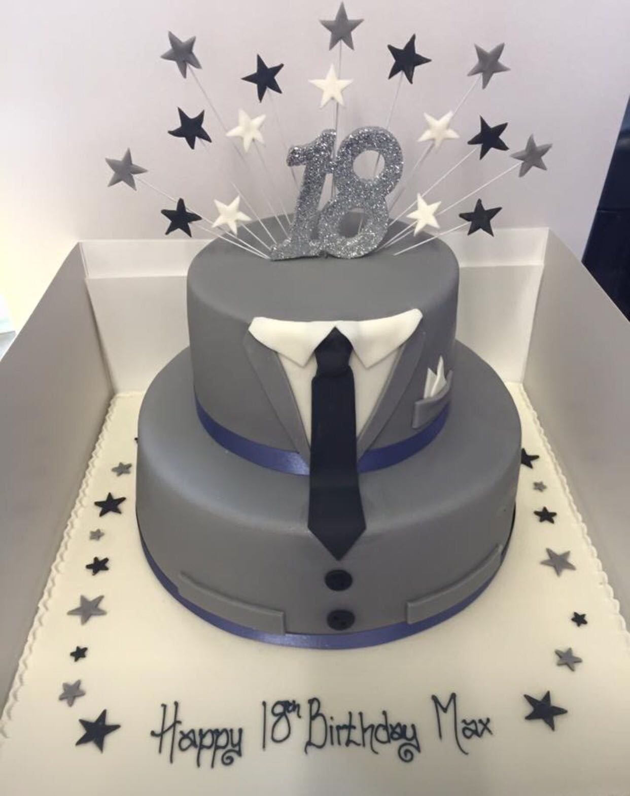 Two Tier Suit Cake Peter Herd