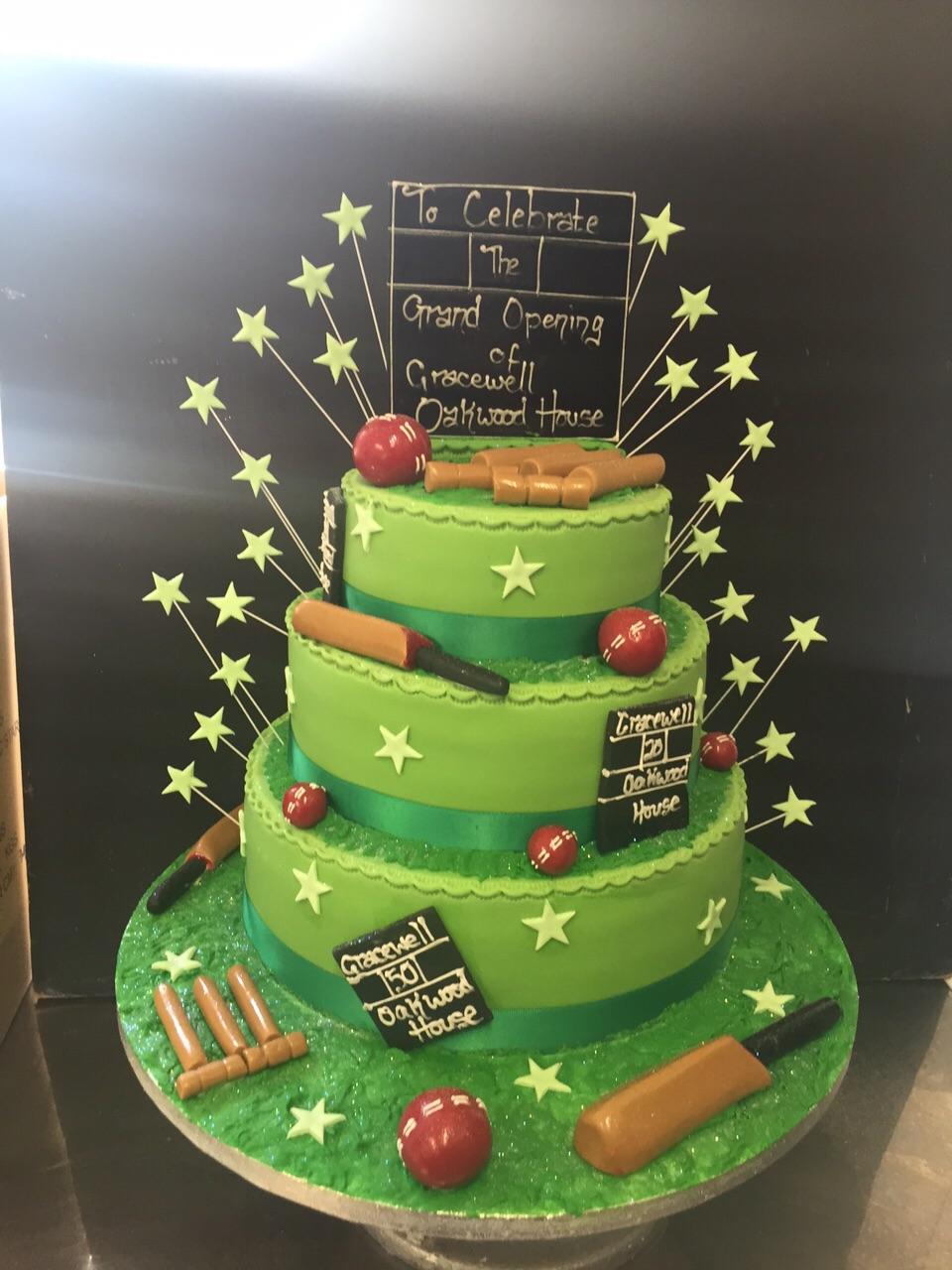 Cricket Theme Cake Peter Herd