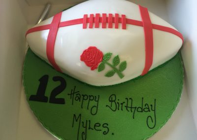 England Rugby Ball Cake