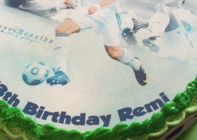 Football Scan Cake