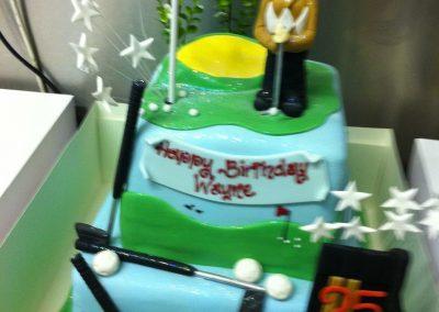 Golfing Theme Cake