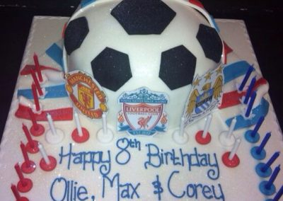 Half a Football Cake