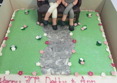 Two Women Garden Cake