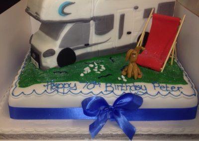 Touring Caravan Cake