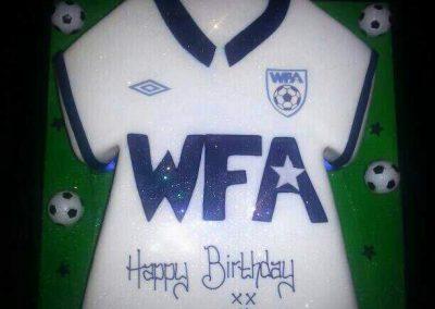 WFA Football Cake