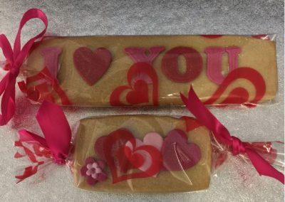 Valentines day biscuits